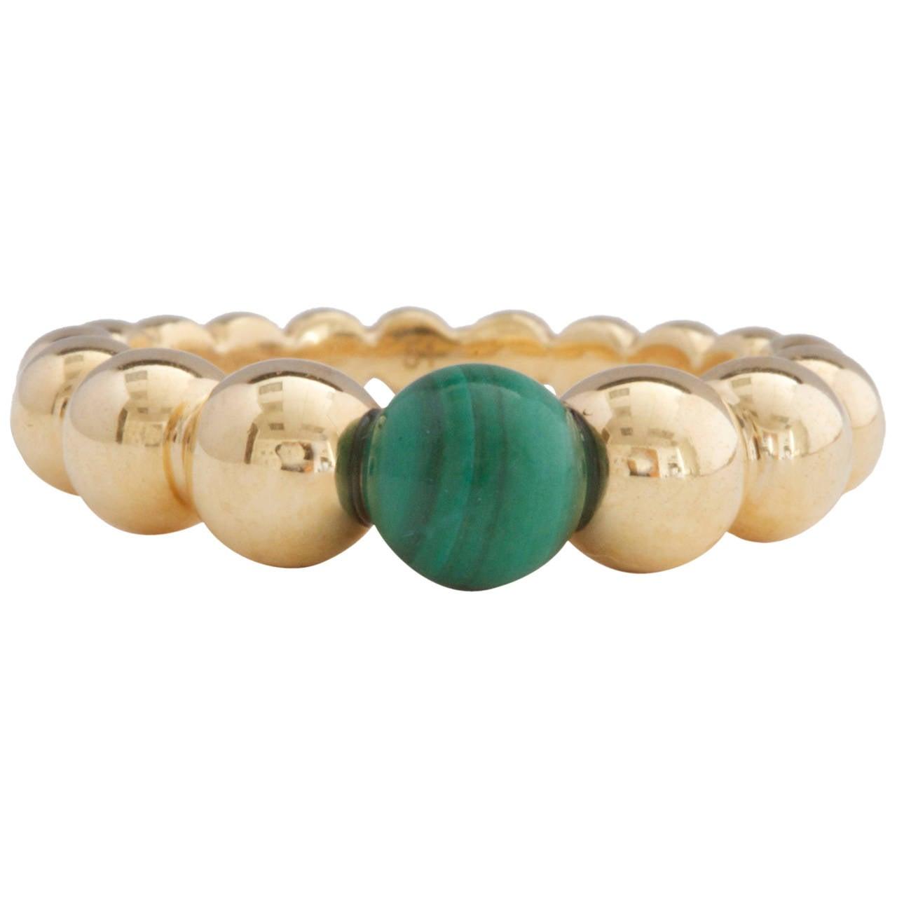 Van Cleef & Arpels Perlee Malachite Gold Ring 1