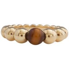 Van Cleef & Arpels Perlee Tigers Eye Gold Ring