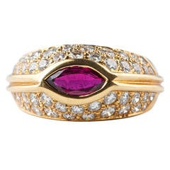 Oscar Heyman Brothers Ruby Diamond Ring
