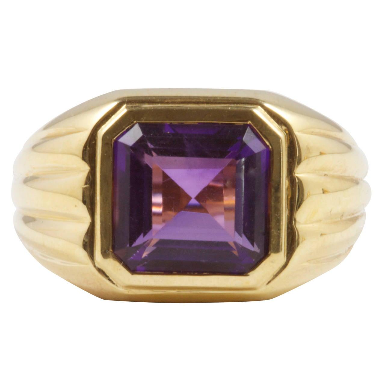 purple amethyst gold ring at 1stdibs