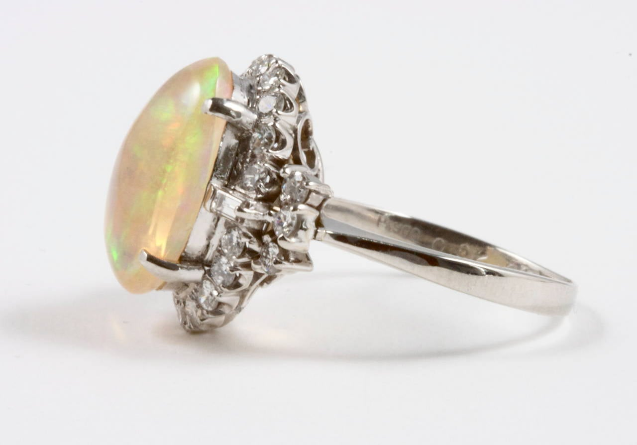 opal platinum ring at 1stdibs