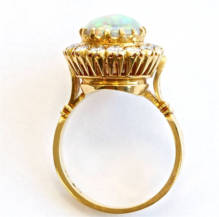 Opal Diamond Gold Ring 4