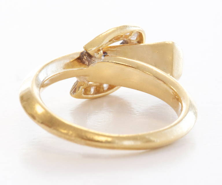 Cartier Diamond Gold Nail Ring at 1stdibs
