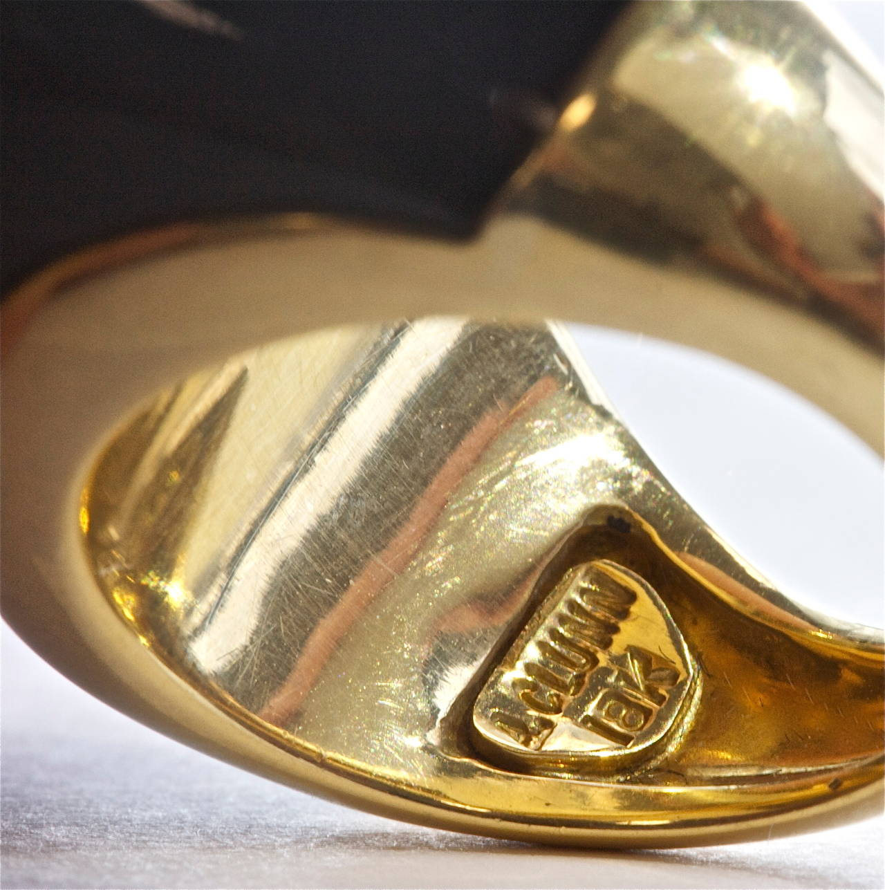 A. Clunn Onyx Gold Ring image 4