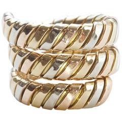 Bvlgari Tri Color Gold Snake Ring