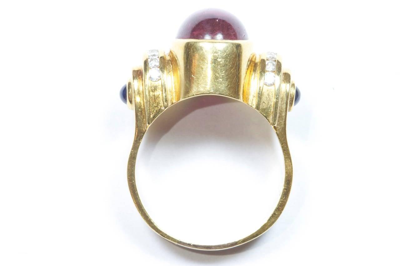 lagos tourmaline sapphire gold ring at 1stdibs