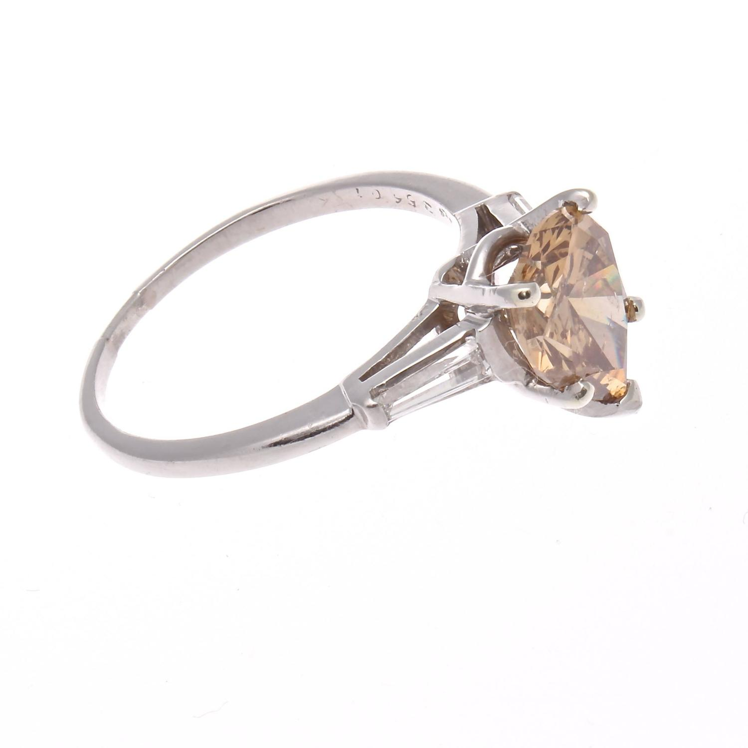 Carat Pear Shaped Champagne Diamond Ring