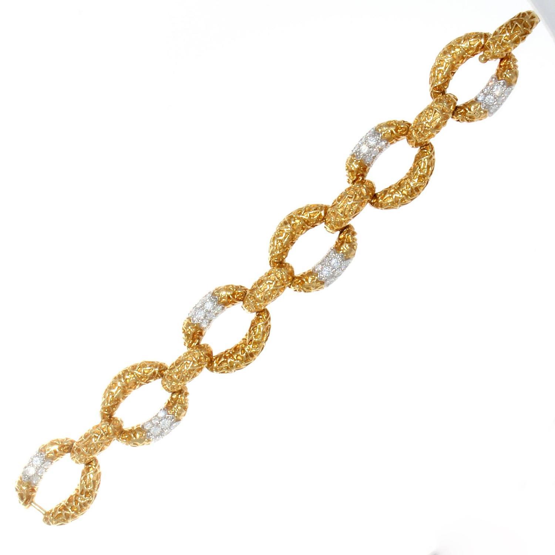 Van Cleef And Arpels Diamond Gold Link Bracelet At 1stdibs. Enamel Jewelry. Unique Rings. Black Kitchen Pendant. I1 I2 Diamond. Anniversary Rings. Treated Diamond. Bohemian Wedding Rings. Cubic Zirconia Eternity Band