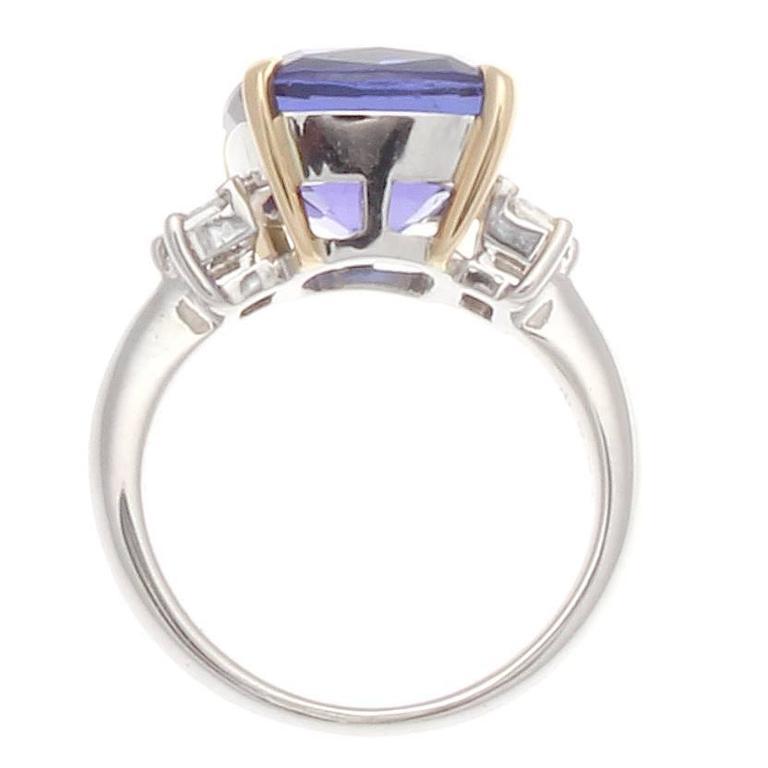 tanzanite platinum gold ring at 1stdibs