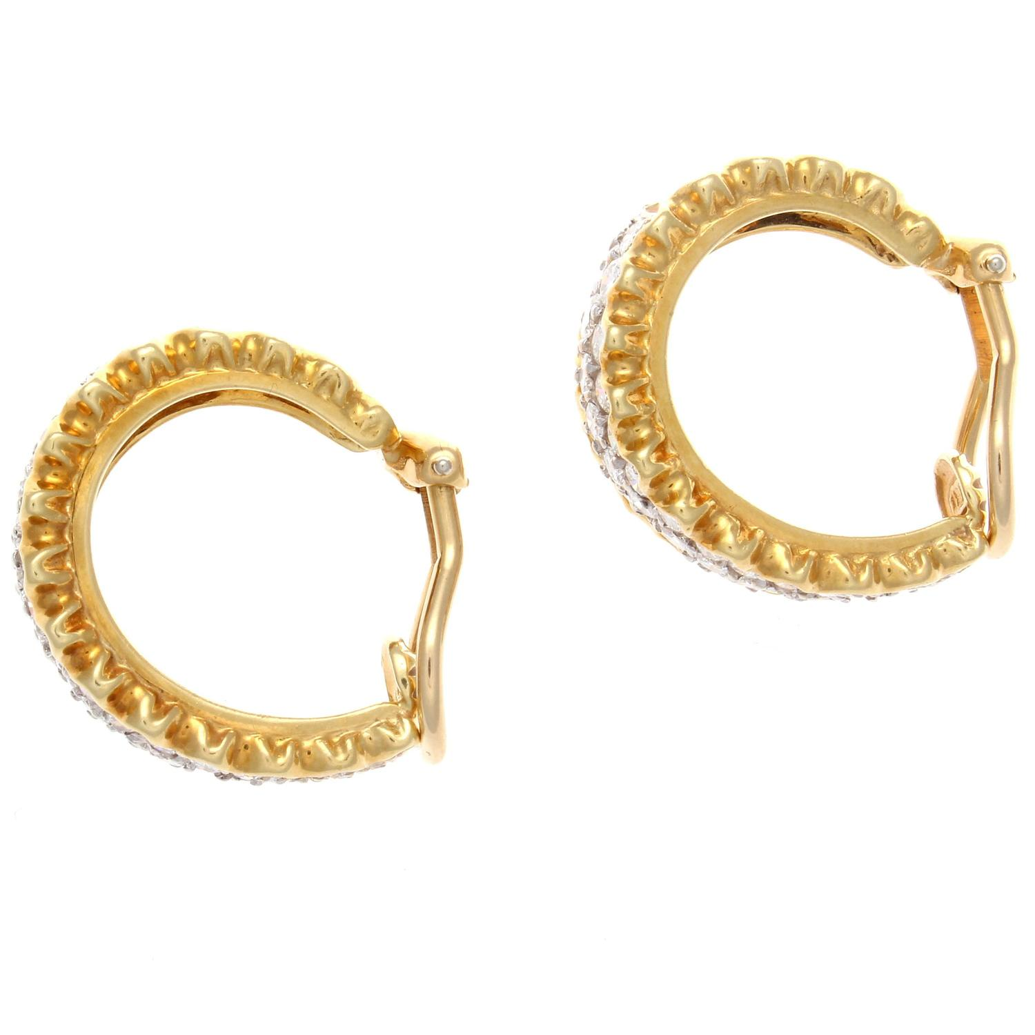 half hoops earrings gold half hoop earrings at 1stdibs 7646