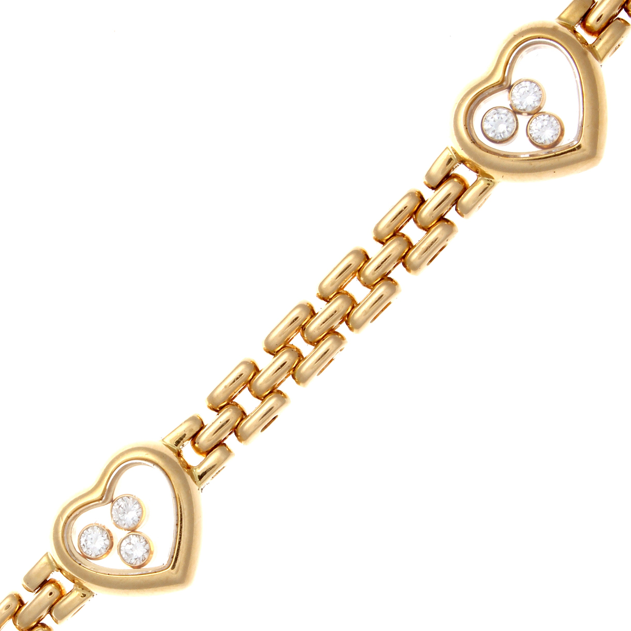 heart love bracelet gold single