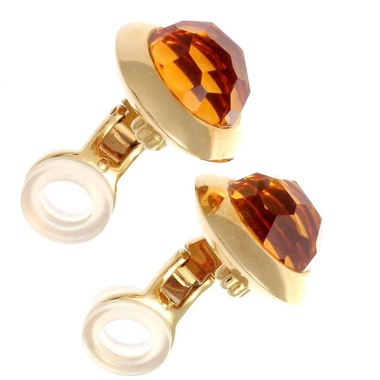Pomellato Citrine Gold Earrings 2