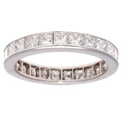 Princess Cut Diamond Platinum Eternity Band