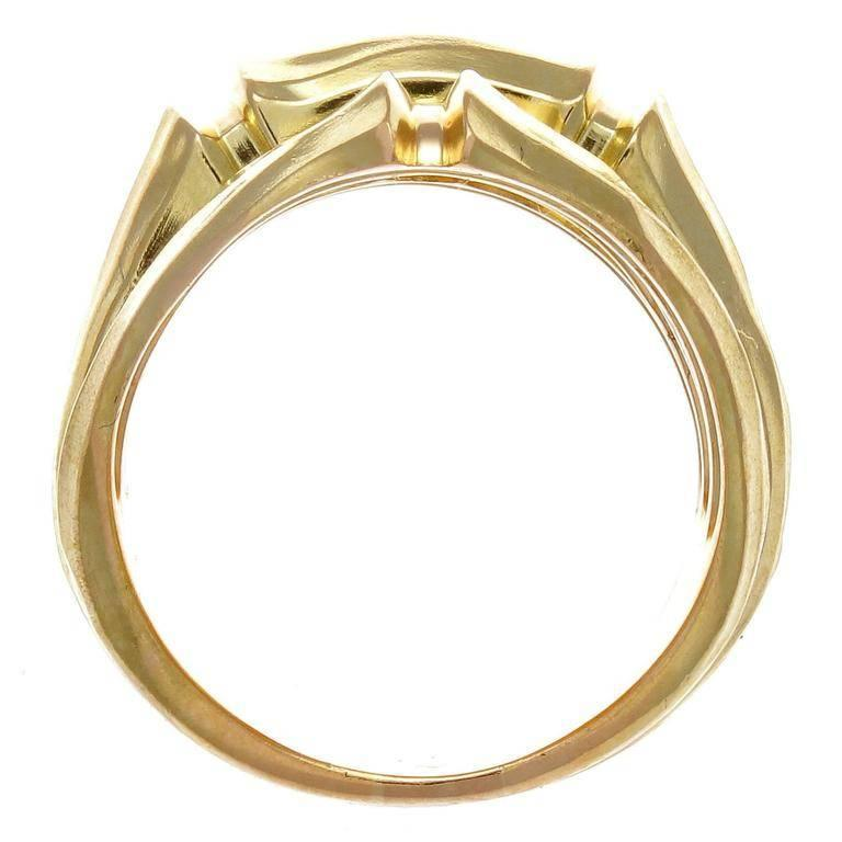 cartier three row bamboo gold ring at 1stdibs