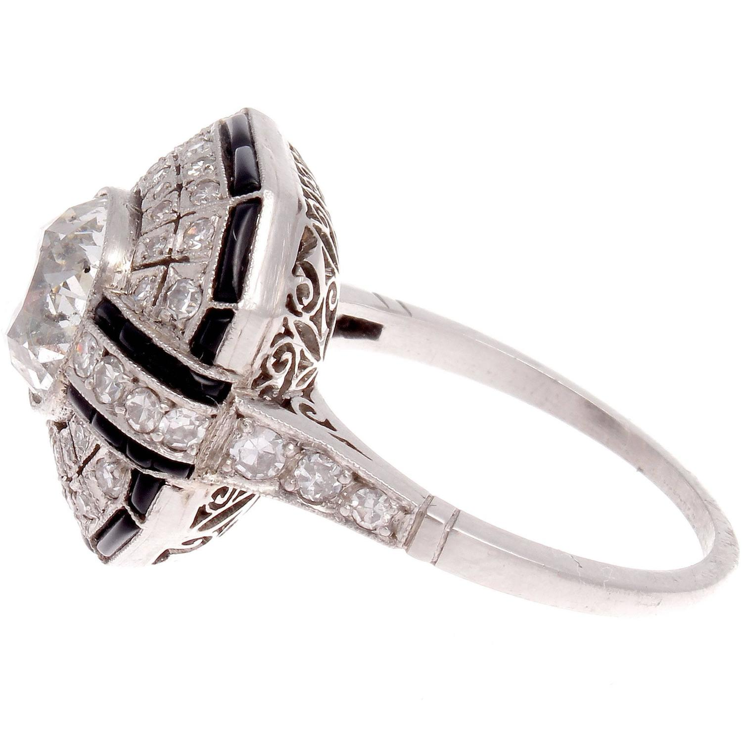Diamond yx Platinum Engagement Ring at 1stdibs