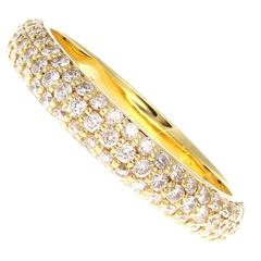 Diamond Gold Eternity Band Ring