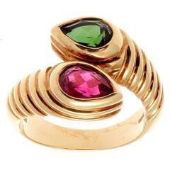Bulgari Gemstone Gold Snake Ring