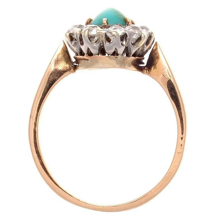 epoque turquoise gold ring at 1stdibs