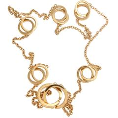 Tiffany & Co. 1837 Gold Interlocking Rings Necklace