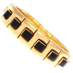 Italian Onyx Gold Bracelet