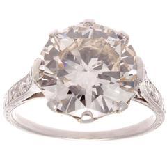 4.92 Carat Diamond Platinum Engagement Ring
