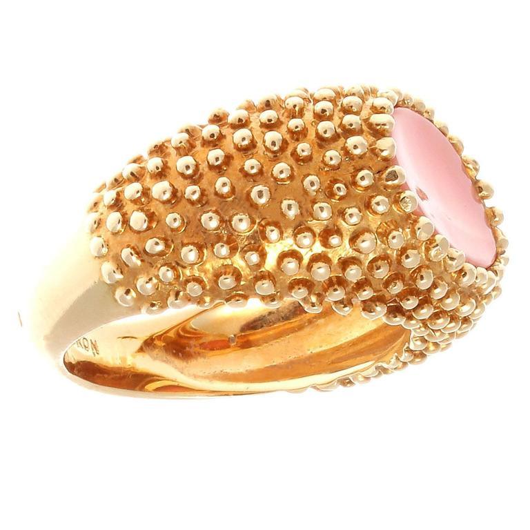 boucheron coral gold ring at 1stdibs