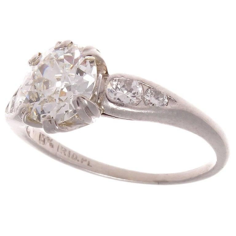 1 12 carat platinum engagement ring for sale at