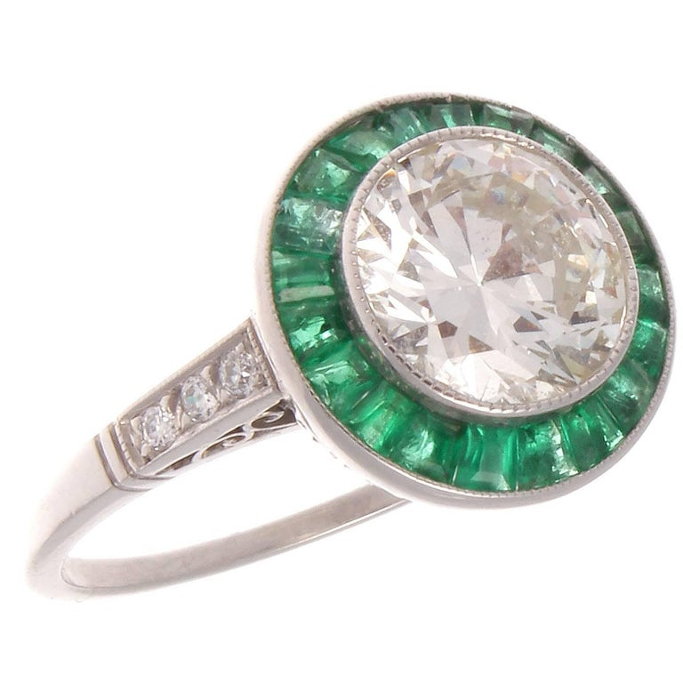 1 80 carat emerald platinum ring at 1stdibs