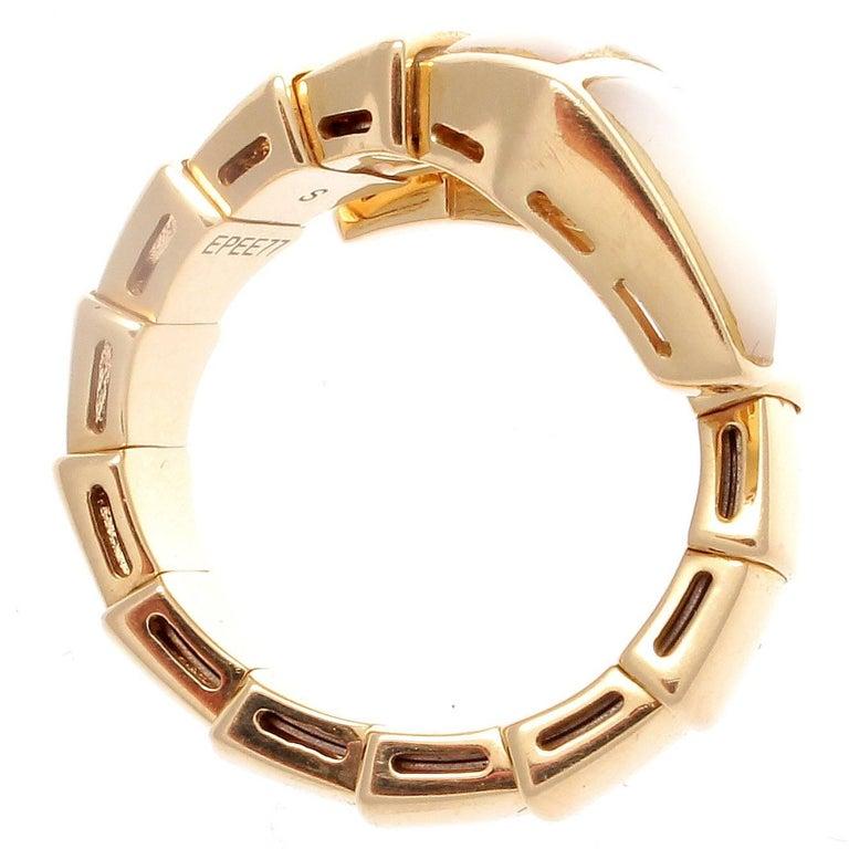 Bulgari Serpenti Ring Mother Of Pearl