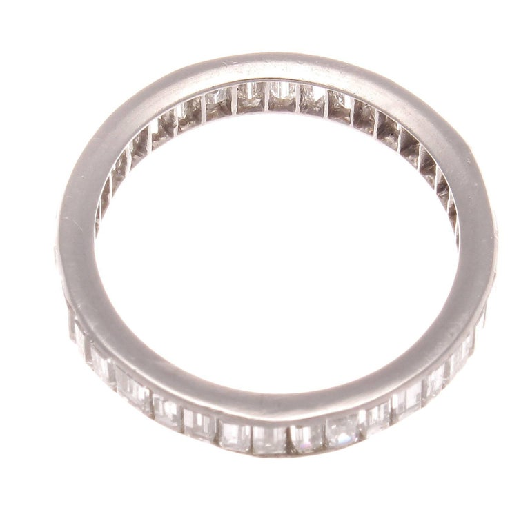 emerald cut eternity band for sale at 1stdibs