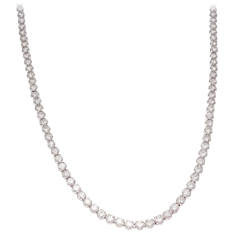 Diamond Gold Riviere Necklace