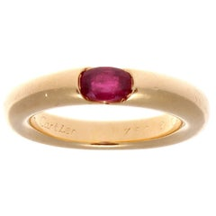 Cartier Ruby Gold Elipse Ring