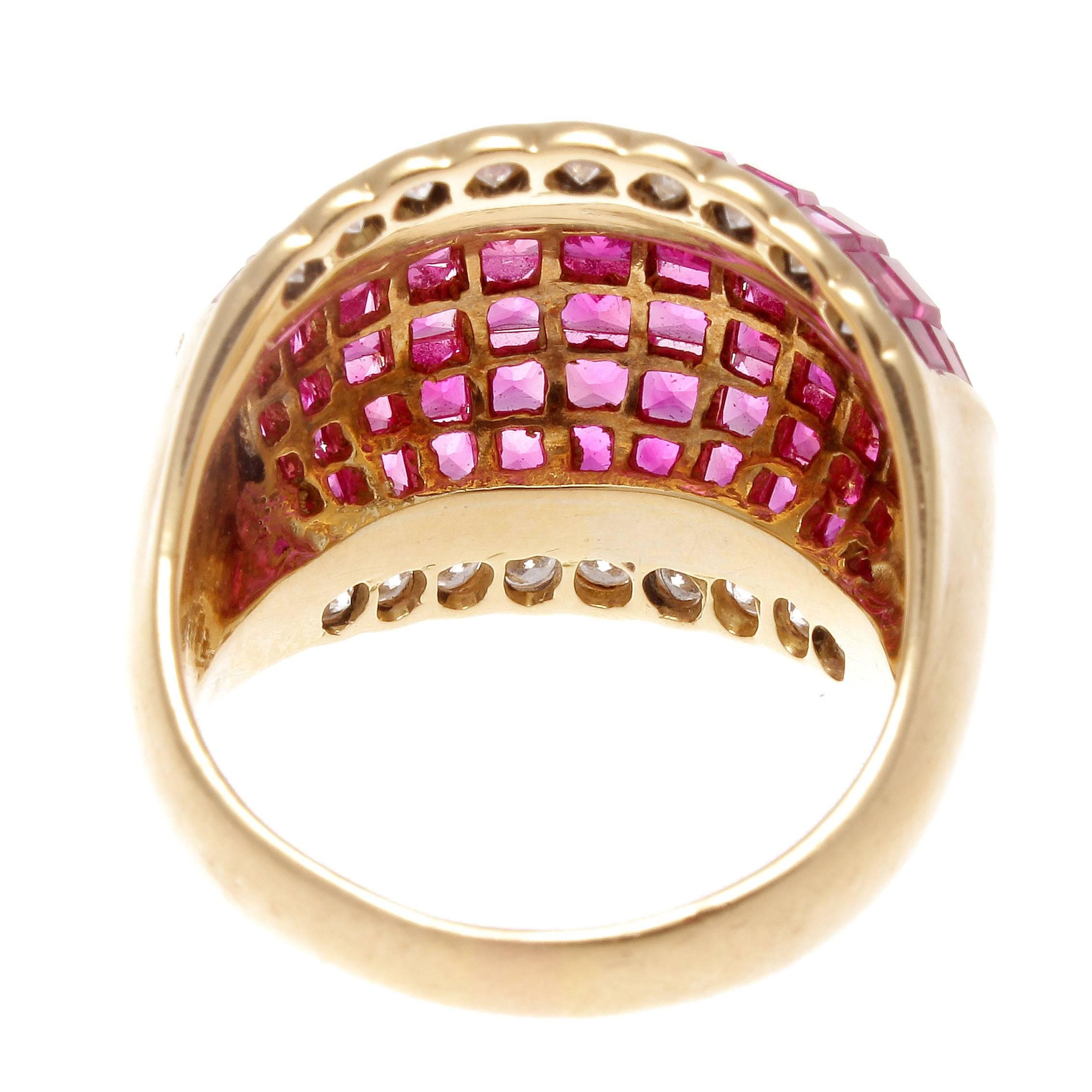 ring collections a white golden flamingo en diamond estate jewelry gold ruby