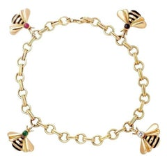 Cartier Bumble Bee Charm Bracelet
