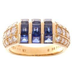 Van Cleef & Arpels Sapphire Diamond Gold Ring