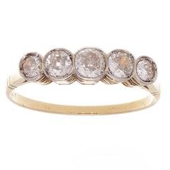 Five-Stone Diamond Gold Ring