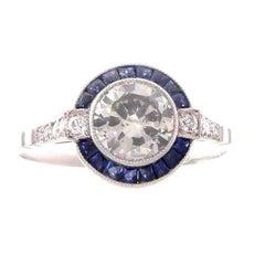 Round Brilliant 1.03 Carat Diamond Platinum Engagement Ring