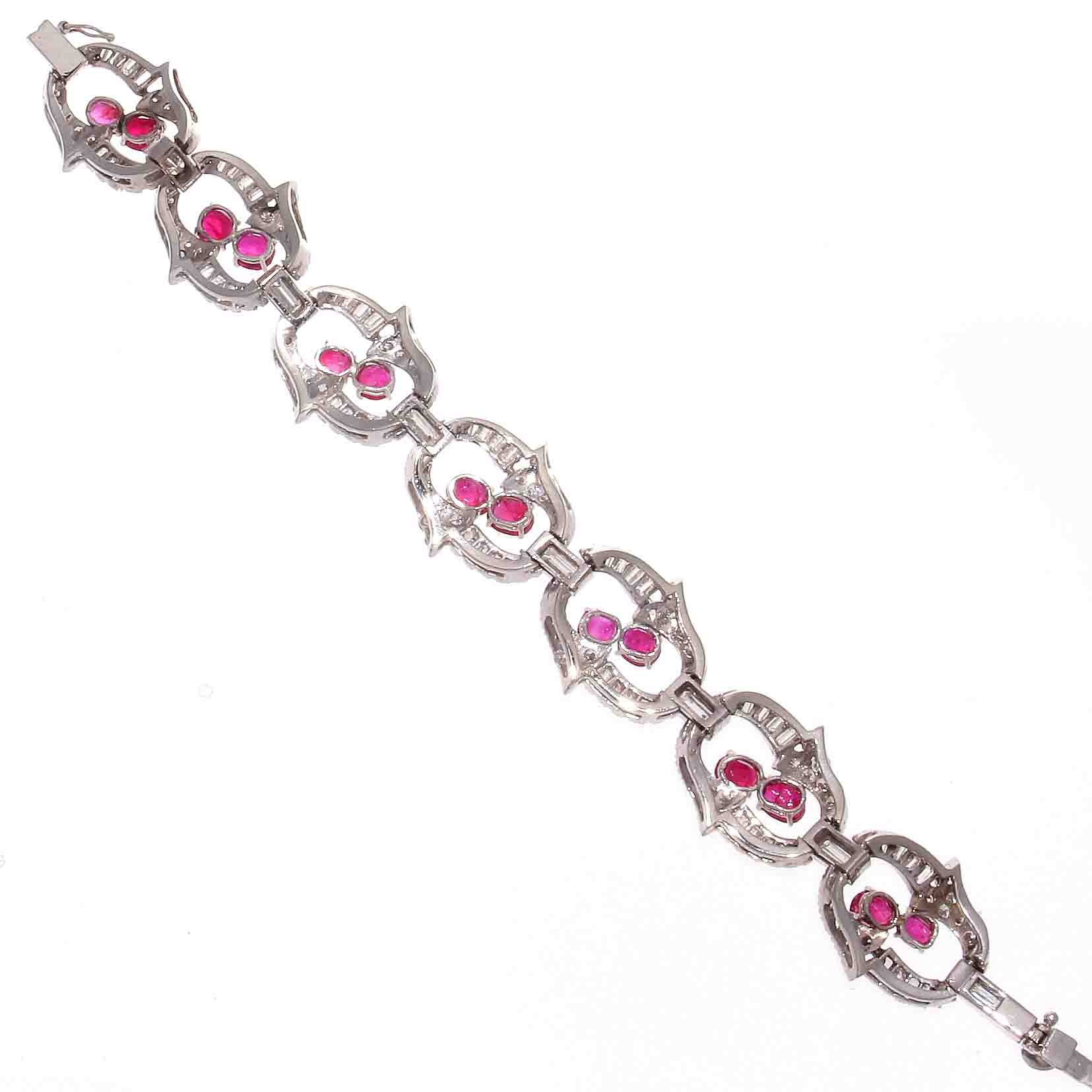 diamond yellow heyman gold pin bracelet ruby oscar