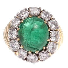 Van Cleef & Arpels Emerald Diamond Platinum Gold Ring