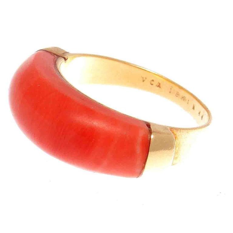 Van Cleef & Arpels Coral Gold Ring