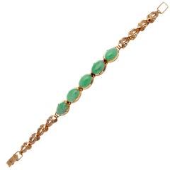 Jade Gold Bracelet