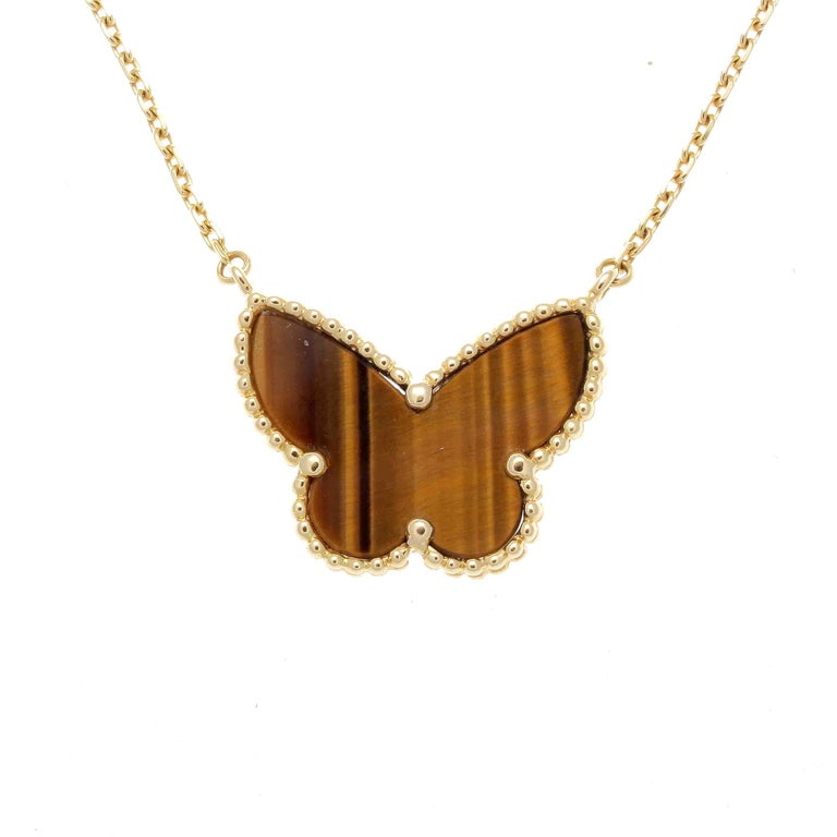 Van Cleef & Arpels Lucky Alhambra Butterfly Necklace