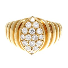 Van Cleef & Arpels Diamond Gold Ring