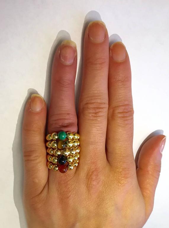 Van Cleef & Arpels Perlee Malachite Gold Ring 5