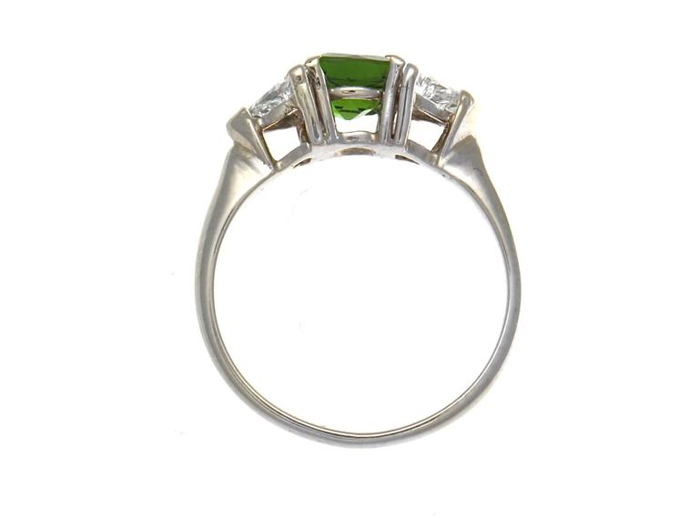 Chrome Diopside Diamond Gold Ring at 1stdibs