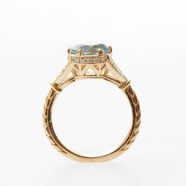 marisa perry 1 64 carat aquamarine engagement ring in