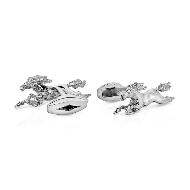 Marisa Perry's Running Horse Cufflinks in Sterling Silver 2