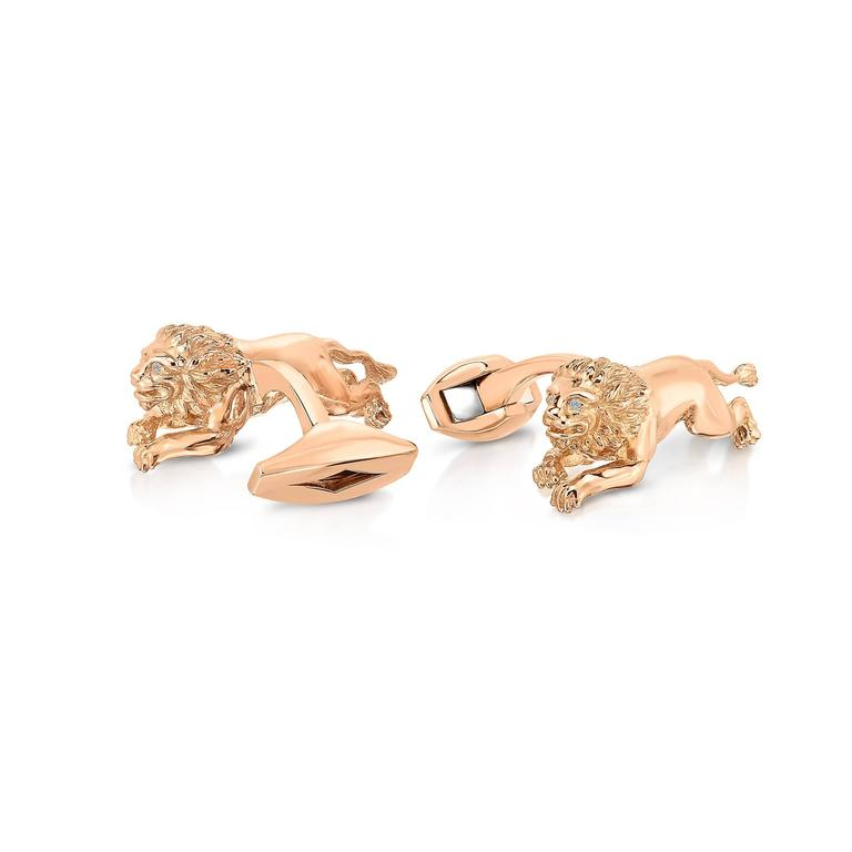 Marisa Perry's Rose Gold and Diamond Lion Cufflinks 3