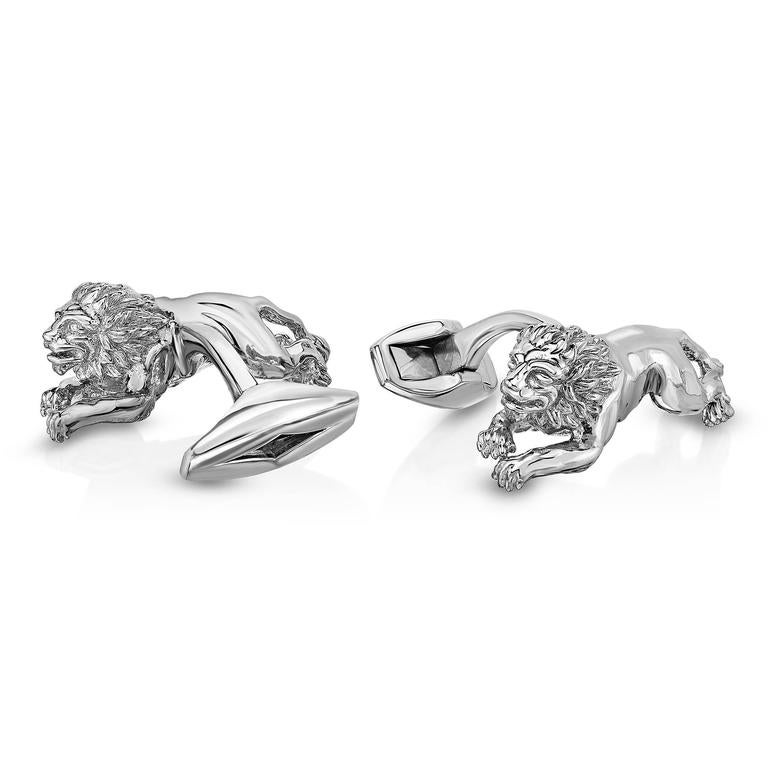 Marisa Perry's Sterling Silver Diamond Lion Cufflinks 2