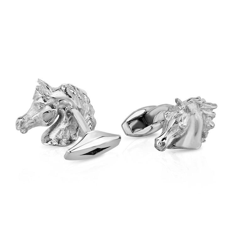 Marisa Perry Arabian Horse Cufflinks in Sterling Silver 2